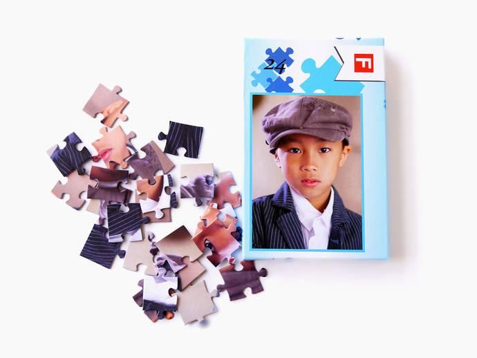 Fotopuzzel met 24 puzzelstukjes en luxe doos